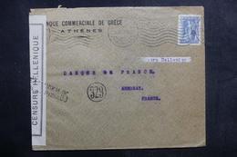 GRECE - Enveloppe De Athènes Pour La France Avec Contrôle Postal - L 41063 - Grecia