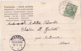 20265# GERMANIA Obl COLMAR MARKOLSHEIM BAHNPOST ZUG 2152 1903 ALSACE MARCKOLSHEIM BAS RHIN AMBULANT PFASTATT - Alsazia Lorena
