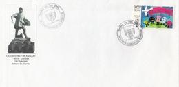 OBLIT. TEMPORAIRE ILLUSTRÉE TIMBRE AN 2000 - CHATEAUNEUF De RANDON - Du GUESCLIN - Marcophilie (Lettres)