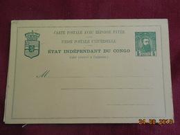 Entier Postal Du Congo Belge Avec Reponse Payée - Belgisch-Kongo
