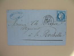 Cérès N° 60 Variété Sur Lettre De    Amiens    Voir Scan - 1849-1850 Cérès