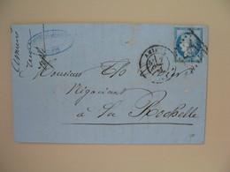 Cérès N° 60 Variété Sur Lettre De    Amiens    Voir Scan - 1849-1850 Ceres