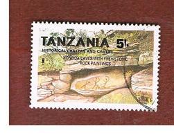 TANZANIA  -  SG 911 -    1991  HISTORICAL CAVES: KONDOA ROCK PAINTINGS - USED ° - Tanzanie (1964-...)