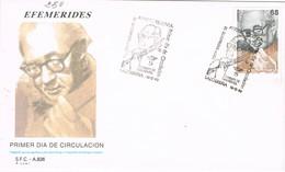 33716. Carta SALOBREÑA (Huesca) 1993. Musica, Centenario Nacimiento ANDRES SEGOVIA - 1931-Hoy: 2ª República - ... Juan Carlos I