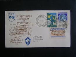 BRAZIL - COMMEMORATIVE ENVELOPE TO THE IV WORLD FOOTBALL / SOCCER CHAMPIONSHIP IN 1950 IN THE STATE - Wereldkampioenschap