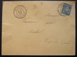 Saint-Alyre (Puy De Dôme, Saint-Alyre-és-Montagne) 1896  Joli Cachet Tireté Sur Une Lettre Pour Ambert - Poststempel (Briefe)
