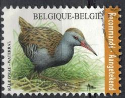 Belgique 2017 Oblitéré Used Oiseau Bird Râle D'eau Waterral Recommandé SU - Oblitérés