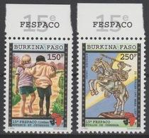 Burkina Faso 1997 Mi. 1447 - 1448 FESPACO Cinema Kino Festival Horse Cheval Pferd Map Landkarte Carte 2 Val. ** - Cinema