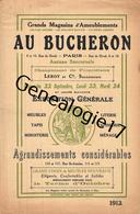 75 22 171 PARIS SEINE 1912 - CATALOGUE 15 Pages Environ - AU BUCHERON Meubles Tapis LEROY Cie Rue De Rivoli - France