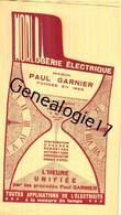 75 22 191 PARIS SEINE - CATALOGUE 10 PAGES Env - Horlogerie Electrique PAUL GARNIER Mesure Du Temps - Electricité & Gaz
