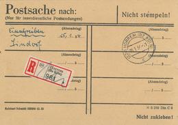 Horrem Köln Postsache 1954 Einschreiben Sindorf - Inneredienstliche Sendung - BRD