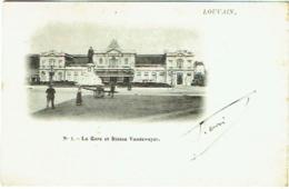 Leuven. Louvain. La Gare Et La Statue Vandeweyer. - Leuven