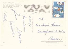 £120 XIX GIORNATA DEL FRANCOBOLLO SU CARTOLINA ROMA SPARITA  E. ROESLER FRANZ VIA DEL RICOVERO - Giornata Del Francobollo