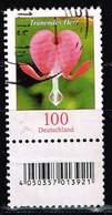 Bund 2017, Michel# 2547 R O Blumen. Tränendes Herz Neuauflage Mit EAN Code Und Nr.130 - Roulettes