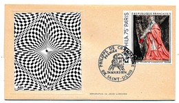 FRANCE-REUNION - Enveloppe FDC Thiaude - Philippe De Champaigne - 24 Mars 1974 - Reunion Island (1852-1975)
