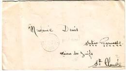 Guerre De 40 Lettre Adressee MAISON DES JUIFS à St CLAUDE GUADELOUPE Timbres Obl De PETIT CANAL ( INTERNEMENT ) - Marcophilie (Lettres)