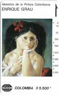 Colombia - Telecom (Tamura) Enrique Grau Paintings - La Cayetana - 5.500$Cp, Used - Colombie