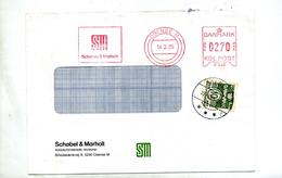 Lettre Flamme Ema Odensee SM + Timbre Cachet - Danemark