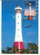 Spratly Islands.New Chigua Reef Lighthouse In Disputed South China Sea.,maximum-card Year 2016, With Explanation At The - Leuchttürme