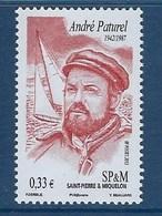 """SPM YT 1049 """" Personnalité """" 2012 Neuf** - St.Pierre Et Miquelon"""