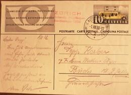 Svizzera - Helvetia - 1938 Ufficio Postale Svizzero Su Automobile Cartolina Postale, Bella - Interi Postali