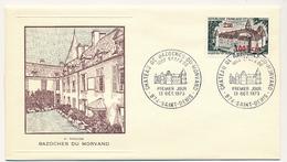 FRANCE-REUNION - Enveloppe FDC Thiaude - Chateau De Bazoches Du Morvand - 13 Déc 1973 - Covers & Documents