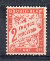 FRANCE - YT Taxe N° 41 - Neuf * - MH - Cote: 350,00 € - 1859-1955 Neufs