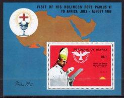 NIGERIA BIAFRA - 1969 POPE'S VISIT MS FINE MNH ** SG SEE NOTE BELOW SG 39-42 - Nigeria (1961-...)