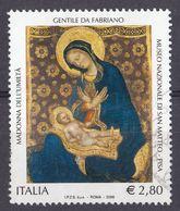 ITALIA - 2006 - Yvert 2861 Usato - Riproduce La Madonna Dell'Umiltà Di Gentile Da Fabriano, 2.80 Euro - 6. 1946-.. Repubblica