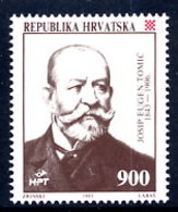 CROATIA 1993 Josip Tomic MNH / **.  Michel 259 - Croazia