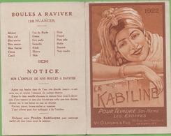 """Calendrier 1922 La KABILINE """"Pour Teindre Soi-même Les Etoffes"""" - Calendriers"""