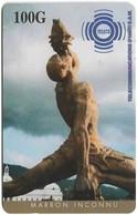 Haiti - TELECO - Marron Inconnu Statue (Cn. Bottom Middle), Prepaid 100HG, Used - Haïti