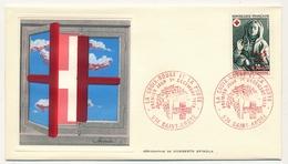 FRANCE-REUNION - 2 Enveloppes FDC Thiaude - Croix Rouge 1973 - Sepulchre De Tonnerre - 1er Dec 1973 - Covers & Documents