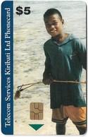 Kiribati - TSKL - Young Boy, Gem5 Red, 5$, 1999, Used - Kiribati