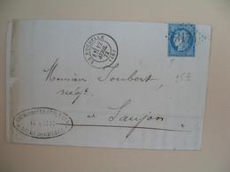 Cérès N° 60 Variété Sur Lettre De    La Rochelle       Voir Scan - 1849-1850 Cérès