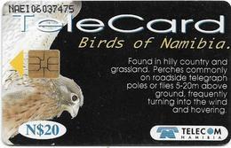 Namibia - Telecom Namibia - Birds Of Namimbia - Rock Kestrel - 20$, 1999, Used - Namibie