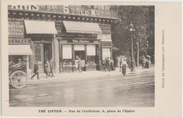 CPA 75 PARIS IX 6 Place De L'Opéra Commerce Thé LIPTON Tea - Arrondissement: 09