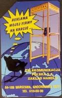 Telefonkarte Polen - Werbung - Erdkugel - Telefonzelle - Polen