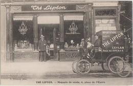 CPA 75 PARIS IX 6 Place De L'Opéra Commerce Thé LIPTON Tea Voiture De Livraison - Arrondissement: 09