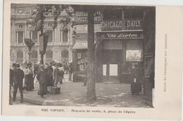 CPA 75 PARIS IX 6 Place De L'Opéra Commerce Thé LIPTON Chicago Daily Mail - Arrondissement: 09