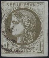 France  .   Yvert   .     39    (2 Scans)  .       O         .       Oblitéré - 1870 Bordeaux Printing