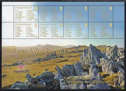 FALKLAND ISLANDS  Michel  998/05 ** MNH  MINI SHEET - Falkland