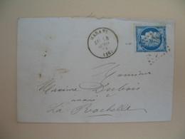 Cérès N° 60 Variété Sur Lettre De    Marans       Voir Scan - 1849-1850 Ceres