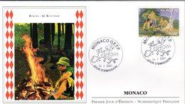 """"""" EUROPA 2007 : LE SCOUTISME / LORD BADEN POWEL """" Sur Enveloppe 1er Jour De MONACO De 2007. N° YT 2593. Parf état. FDC - Scouting"""