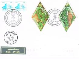 Algérie. Timbres Abeilles Sur Enveloppe. Cachet à Date - Bienen