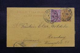 ITALIE - Entier Postal + Complément De Rome Pour L 'Allemagne En 1906 - L 41084 - 1900-44 Vittorio Emanuele III