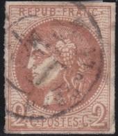 France  .   Yvert   .     40    Report 2?   (2 Scans)  .       O         .       Oblitéré - 1870 Emission De Bordeaux