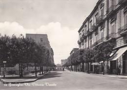 CARTOLINA  - BARI - BISCEGLIE - VIA VITTORIO VENETO - VIAGGIATA ANNULLO AMB. PER BERGAMO - Bari