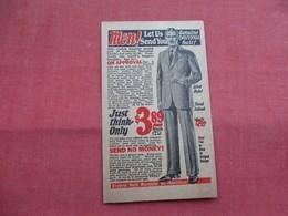 Genuine Daytona Suit   $ 3.89     Bernard Hewitt & Cp  Chicago Il -ref    3573 - Advertising