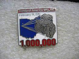 Pin's Du 1000000eme Moteur Automobile HONDA Of America Mfg,Inc. - Honda